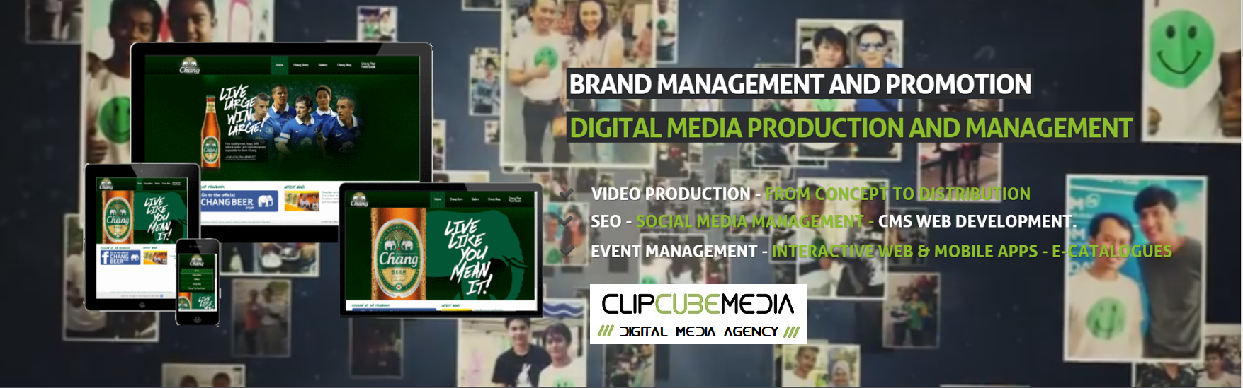 ClipCube Media, Bangkok, Video Production, Web development, SEO, branding